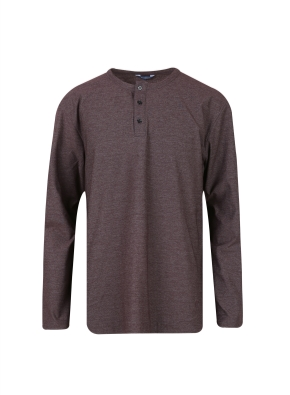 투 버튼 헨리넥 기본 티셔츠 (WN)