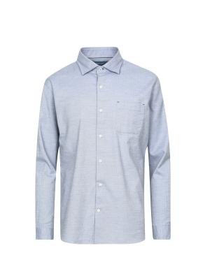 헤링본 패턴 셔츠 (BL)