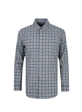 헤링본 잔조직 체크 셔츠 (GN)