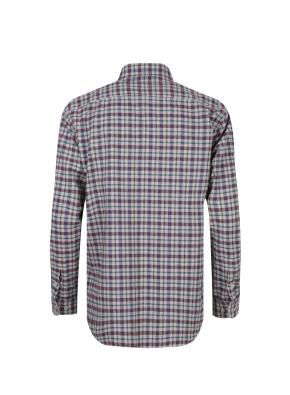 헤링본 잔조직 체크 셔츠 (WN)
