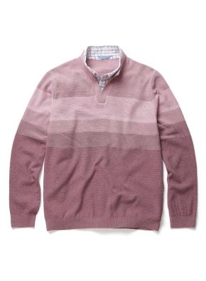 셔츠카라 레이어드 블럭 스웨터