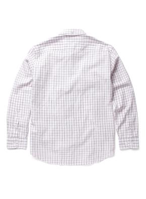 변형 윈도우페인체크 면 혼방 셔츠 (PK)