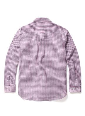 면 혼방 패턴 깅엄 체크 셔츠 (PK)
