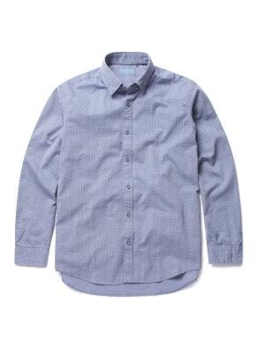 면혼방 올오버 프린트 셔츠