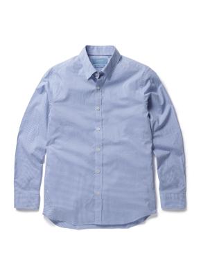 면 마이크로 깅엄체크 셔츠 (BL)