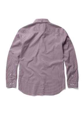 면 마이크로 깅엄체크 셔츠 (WN)