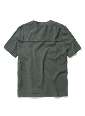 변형 헨리넥 반팔 스웨터 (KH)