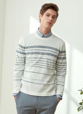 슬럽스트라이프 라운드 스웨터