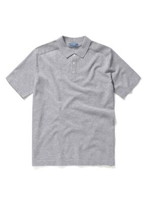 쿨터치 카라에리 반팔 스웨터 (GR)