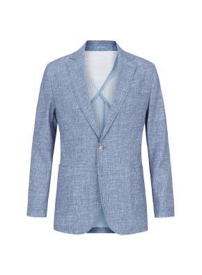 시어서커 솔리드 재킷 (BL)