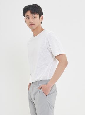 슬럽 실켓 베이직 라운드 티셔츠 (WT)