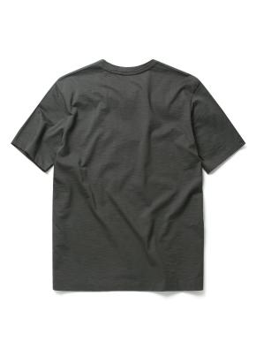 슬럽 실켓 변형 헨리넥 티셔츠 (CGR)