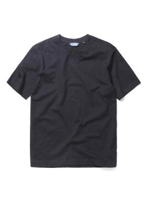 슬럽 실켓 변형 헨리넥 티셔츠 (DNV)