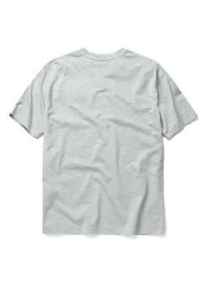 슬럽 실켓 변형 헨리넥 티셔츠 (LKH)