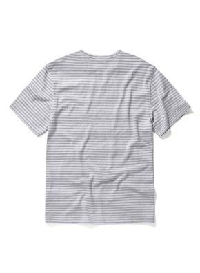 스트라이프 트임 헨리넥 티셔츠 (MGR)
