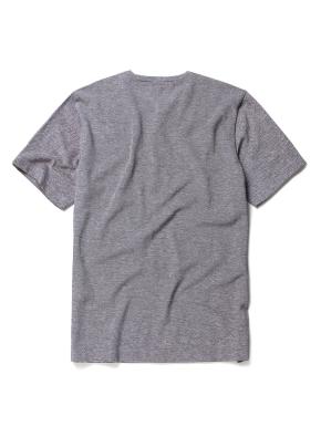 린넨 혼방 변형 헨리넥 티셔츠 (GR)