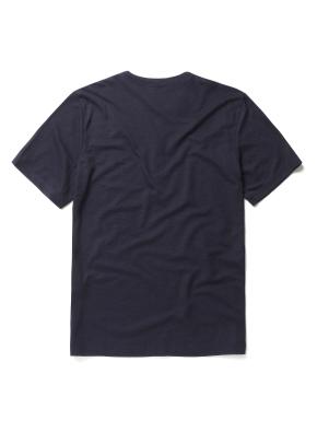 린넨 혼방 변형 헨리넥 티셔츠 (NV)