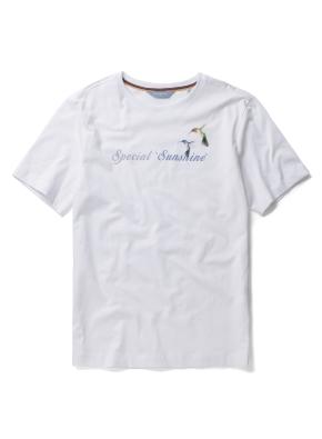 [Fairy pitta] 레터링 팔색조 프린트 반팔 티셔츠