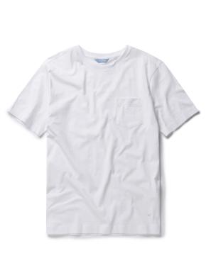 실켓 베이직 포켓 라운드 티셔츠 (WT)