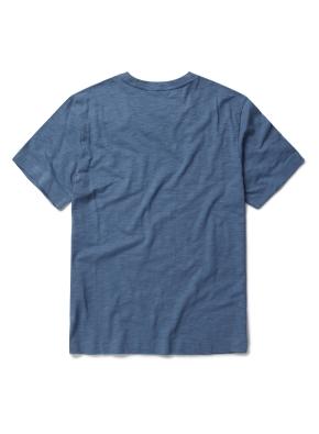 베이직 슬럽 반팔 포켓 티셔츠 (BL)