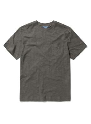 베이직 슬럽 반팔 포켓 티셔츠 (KH)