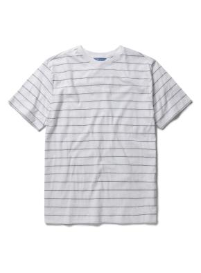 코튼 스트라이프 라운드 티셔츠 (WT)