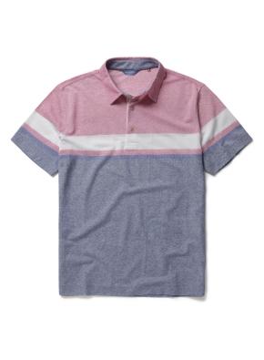 폴리 혼방 컬러 블록 카라 티셔츠 (PK)