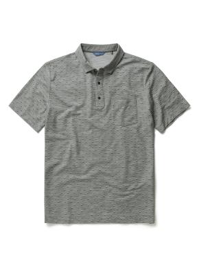 폴리 혼방 패턴 카라 티셔츠 (KH)