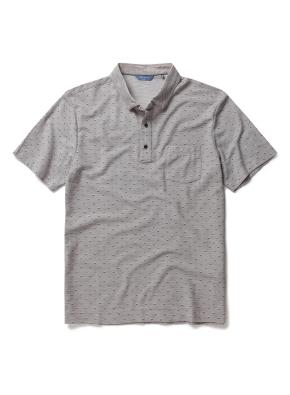 폴리 혼방 패턴 카라 티셔츠 (LBE)