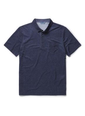 폴리 혼방 포켓 카라 티셔츠 (NV)