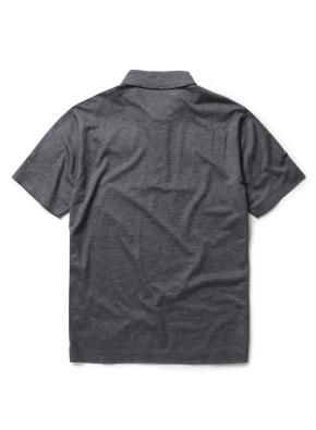 싱글 조직 배색 카라 티셔츠 (DGR)