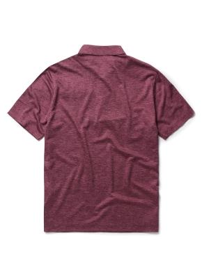 싱글 조직 배색 카라 티셔츠 (WN)