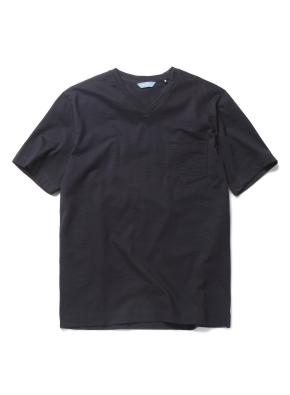 슬럽 실켓 포켓 브이넥 티셔츠 (DNV)