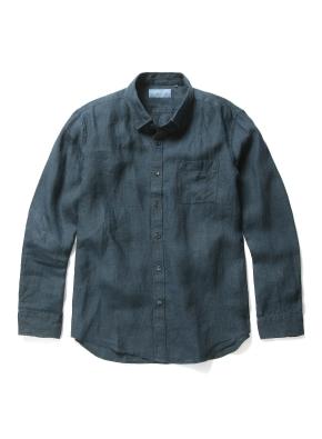 히든 버튼 컬러 린넨 셔츠 (PGN)