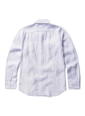 히든 버튼 스트라이프 패턴 셔츠 (BL)