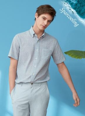 에어도트 시어서커 반팔 셔츠 (GN)