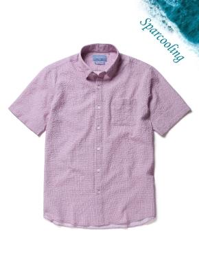 에어도트 시어서커 반팔 셔츠 (VI)