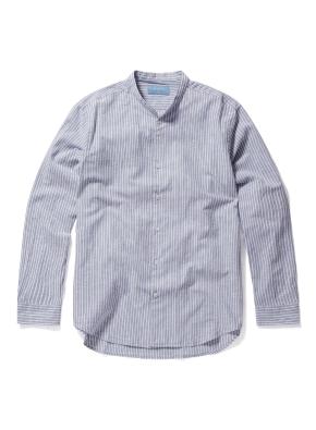 헨리넥 핀스트라이프 셔츠 (NV)