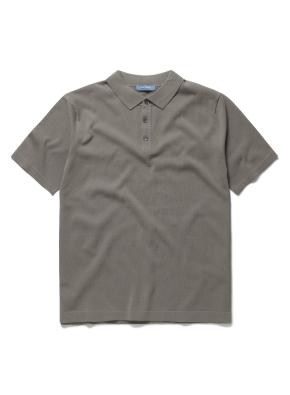 솔리드 스파쿨링 니트 카라 티셔츠 (KH)