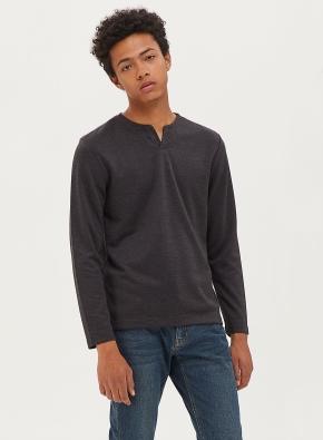 소프트 슬릿넥 티셔츠