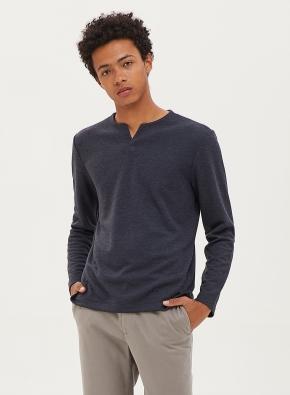 소프트 슬릿넥 티셔츠 (MNV)