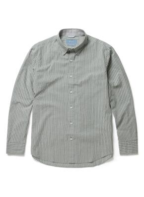 히든버튼 멀티 스트라이프 셔츠