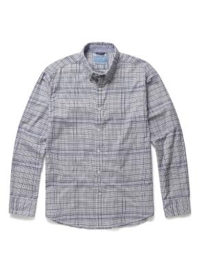 톤온톤 체크 코튼 셔츠