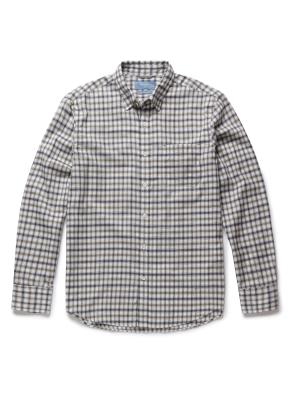 멀티 깅엄 체크 포켓 셔츠