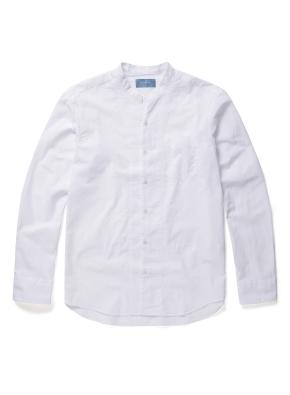 헨리넥 변형 카라 화이트 셔츠