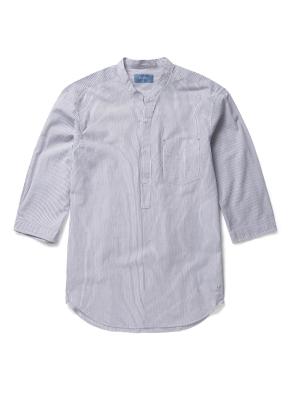 헨리넥 반오픈 스트라이프 셔츠