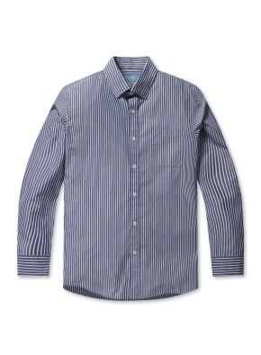 코튼 스트라이프 드레스 셔츠(DBL)
