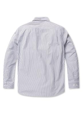 코튼 스트라이프 드레스 셔츠(NV)