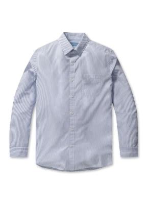 코튼 스트라이프 드레스 셔츠(WT)