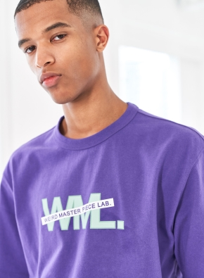 [WML] 라인 레이어드 로고 그래픽 티셔츠